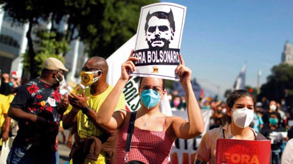 Nuevas protestas en todo  Brasil contra Jair Bolsonaro