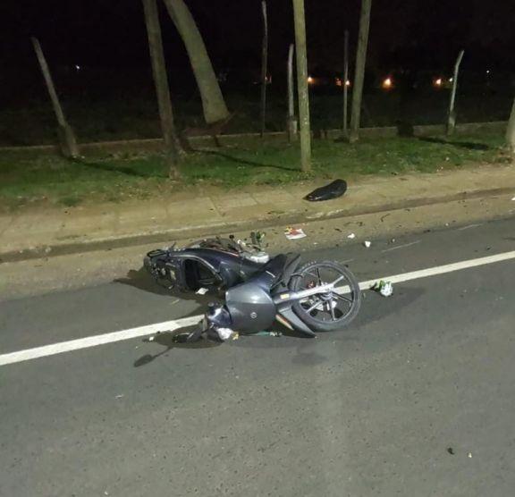 Posadas: despiste y muerte de un motociclista en la avenida Centenario