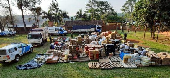 Prefectura descubrió y desmanteló una aduana paralela en Misiones