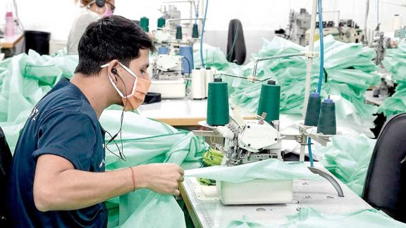 La producción de pymes industriales creció 44,5% en junio