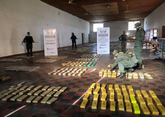 Incautan más de una tonelada y media de marihuana en operativo en General Urquiza