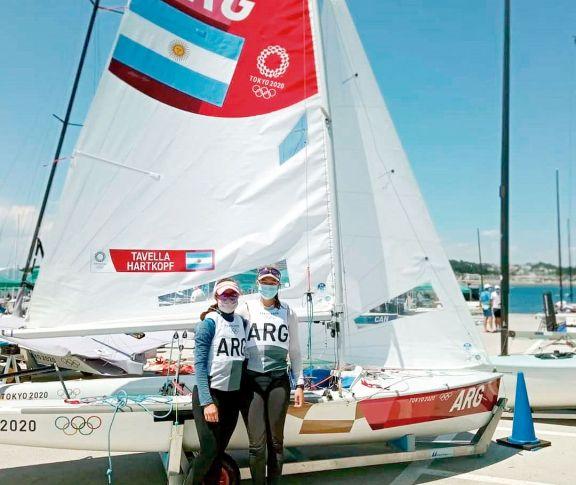 JJOO: Belén Tavella y Lourdes Hartkopf se ubican en el puesto 20° tras cuatro regatas de vela 470