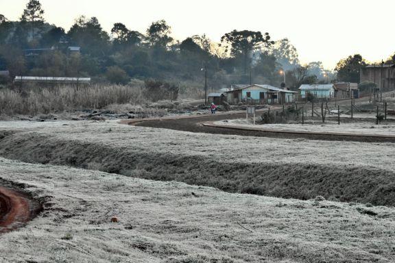 Nuevas heladas en la tierra colorada con el punto más frío en Bernardo de Irigoyen con 6 grados bajo cero