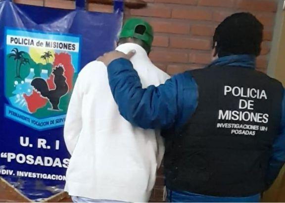 Detuvieron en Posadas a un hombre involucrado en el robo a un comercio