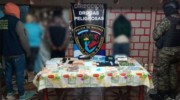 Tres personas detenidas por operativo en kiosco narco en la Chacra 159 de Posadas