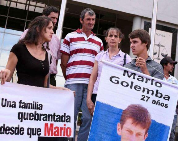 Testigos afirman haber visto a Golemba en la comisaría de dos de mayo el día que desapareció
