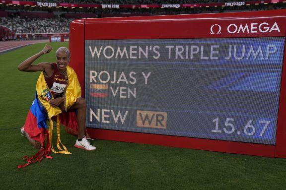 JJOO: la venezolana Yulimar Rojas gana la medalla dorada con nuevo récord en salto triple