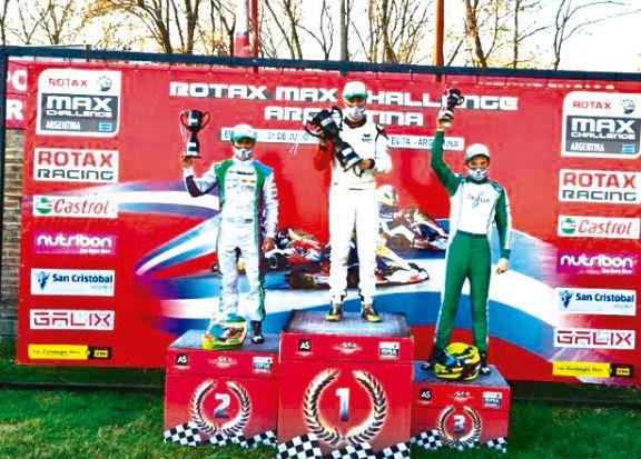 Karting: Grimaldi fue 2º y sigue prendido  en la Rotax Bue