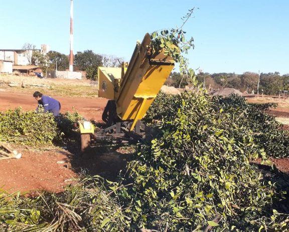 Entregaron ramas chipeadas a productores agroecológicos de Alvear y Guaraní