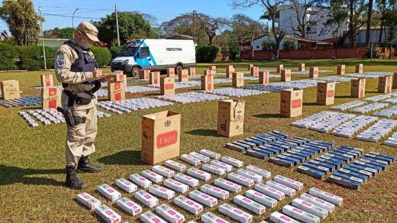 Prefectura secuestró cigarrillos de contrabando en Puerto Iguazú