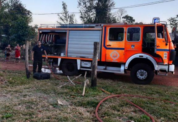 Bomberos de Iguazú acudieron a dos incendios en lo que va de la jornada