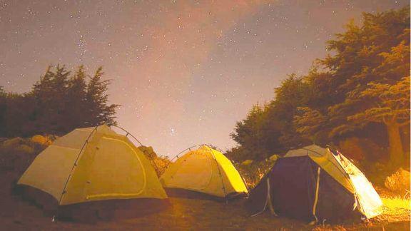 Guardia en el campamento