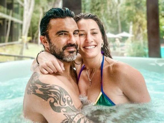 Fabián Cubero y Mica Viciconte eligieron Misiones para celebrar un nuevo aniversario