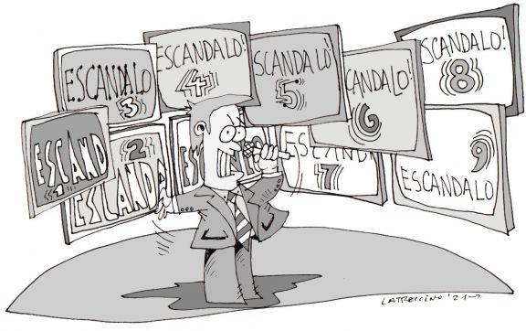 Marcha de los días: Escándalo tapa otro escándalo