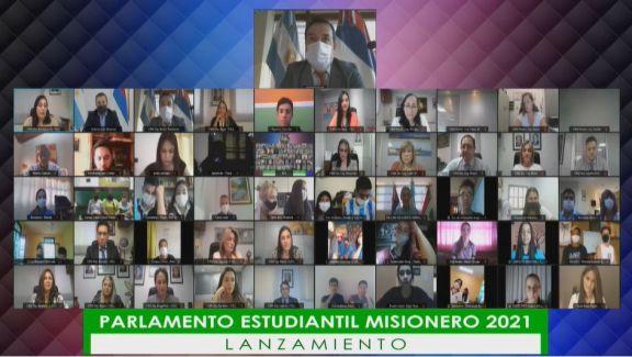 Lanzaron el Parlamento Estudiantil Misionero que sesionará el 25 y 26 de agosto