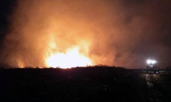 En Wanda hubo varios focos de incendio que fueron sofocados