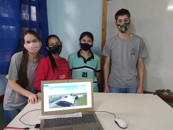 Alumnos de 6to año de la Epet N 11 participan de las Olimpíadas en Construcción