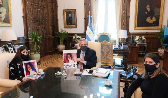 El presidente recibió a la familia de Guadalupe, la nena desaparecida en San Luis