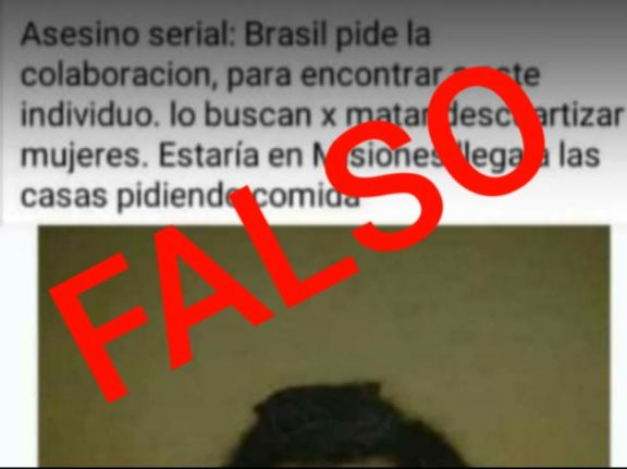 """Es falso el trascendido sobre un supuesto """"asesino serial"""" que generó pánico en Candelaria y Santa Ana"""