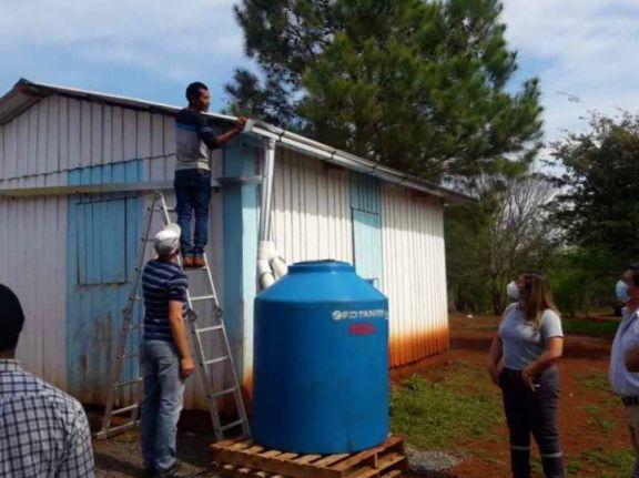 En Puente Quemado desarrollaron un sistema para abastecer cultivos con agua de lluvia
