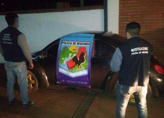 Un auto robado en Buenos Aires fue secuestrado en San Vicente