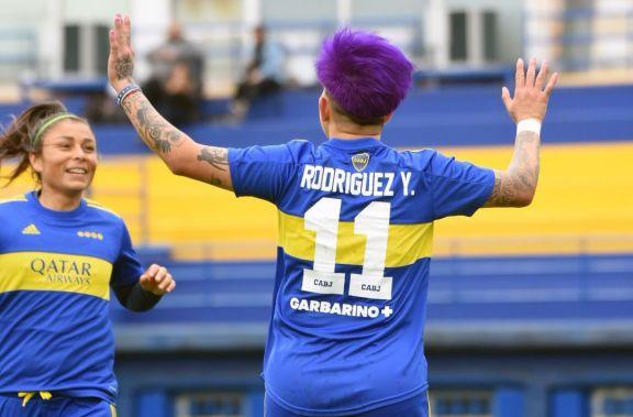 Fútbol Femenino: Con un doblete de Yamila Rodríguez, Boca alcanzó la punta del Clausura
