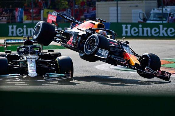 Ricciardo aprovechó el choque entre Verstappen y Hamilton para ganar el Gran Premio de Italia