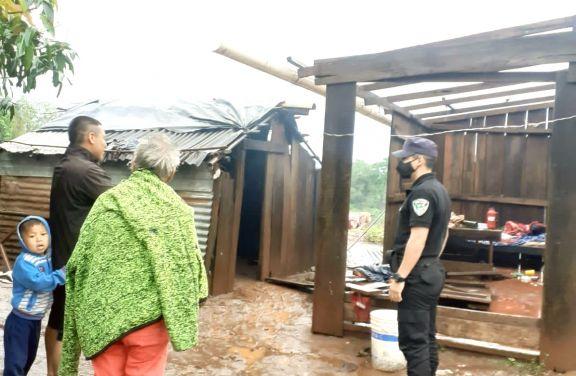 Temporal dañó casas y dejó sin luz a municipios del Norte