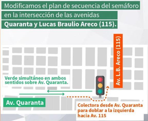 Establecen el verde simultáneo sobre avenida Quaranta en Posadas