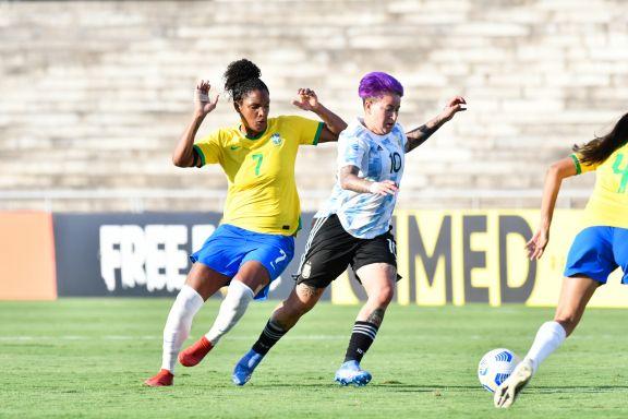 Argentina, con Yamila Rodríguez como titular, no pudo con Brasil en un amistoso