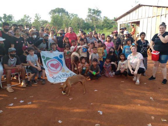 Jornada solidaria en la aldea mbya Alecrín