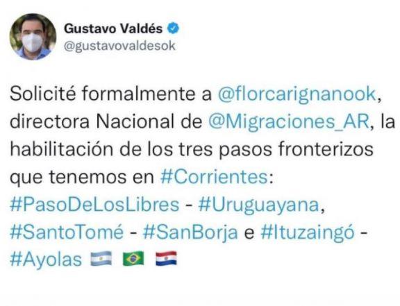 Corrientes también pidió la apertura de las fronteras