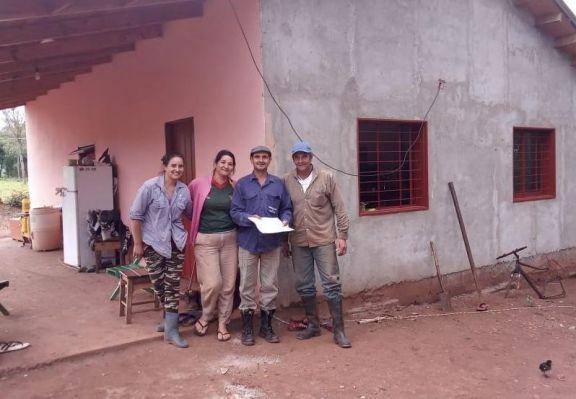 Avanza la construcción de viviendas en Pozo Azul