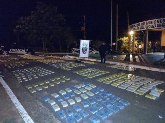 Hallan más de 450 kilos de marihuana en General Urquiza