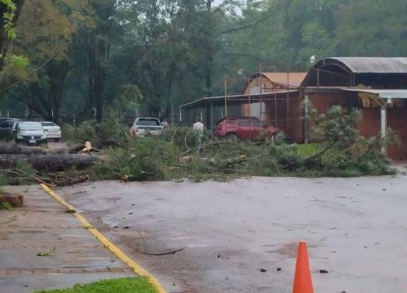 Ruiz de Montoya y Jardín América, otras de las localidades que sufrieron daños por el temporal