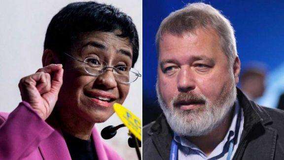 Dos periodistas comparten el Premio Nobel  de la Paz 2021