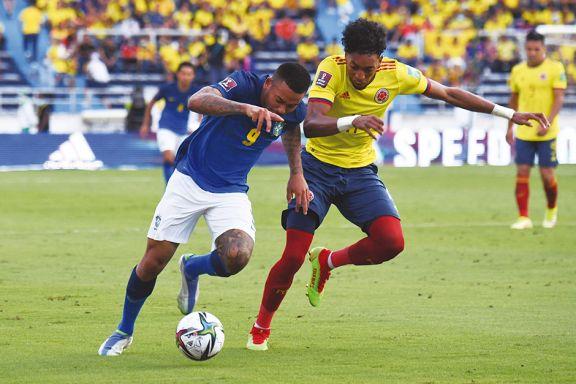 Brasil igualó con Colombia y dejó atrás su andar perfecto