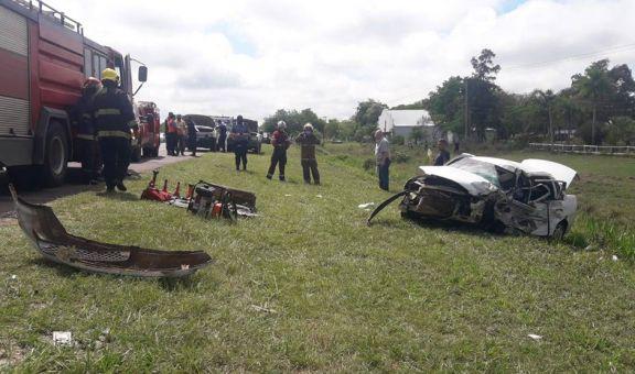 Misionera falleció en un choque frontal en la ruta 12 en Corrientes