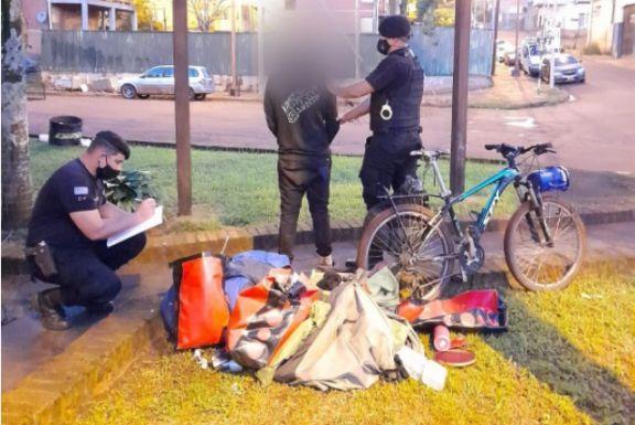 Recuperaron lo robado al cicloviajero cordobés