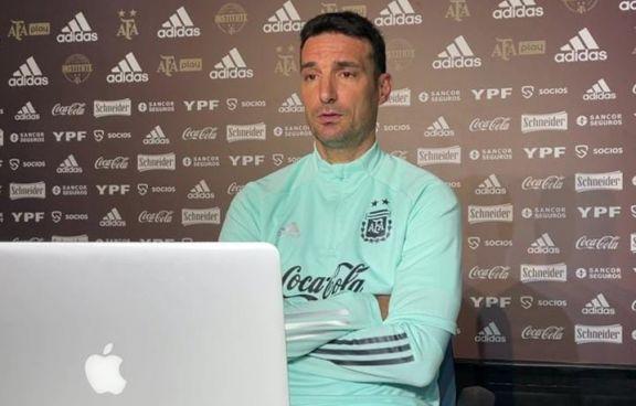 """Antes del partido con Perú, Scaloni elogió a sus jugadores: """"Nunca nos van a dejar tirados"""""""