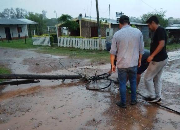 Fuerte temporal provocó daños en localidades del interior de Corrientes