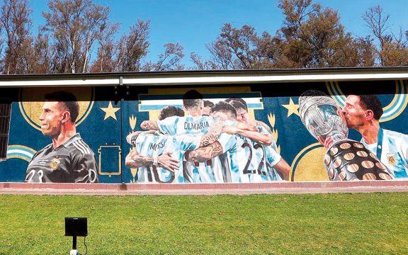 Un mural especial para los campeones de América