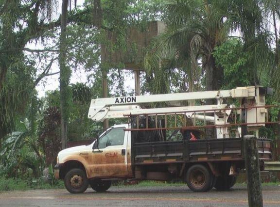 Montecarlo continúa con problemas en la energía eléctrica tras el temporal
