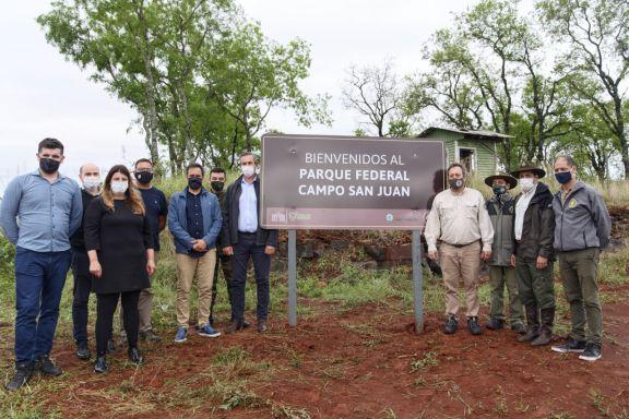 Misiones y Nación acordaron la creación del Parque Federal Campo San Juan