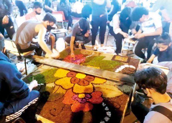 El BOP 5 de Candelaria se lució con sus alfombras florales