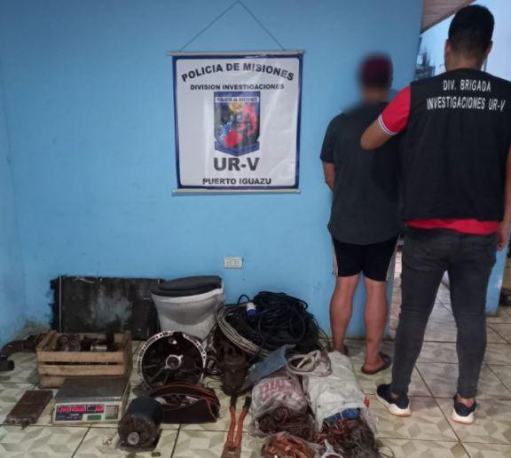 Capturaron a otro hombre involucrado en el robo e incendio del depósito de una empresa en Iguazú