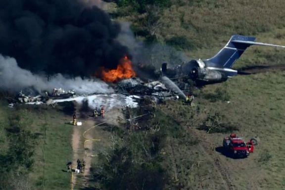 Un avión se estrelló e incendió en Texas con 21 personas a bordo y todas sobrevivieron
