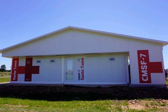 Autoridades visitaron el Centro Modular Sanitario de Frontera en Santo Tomé