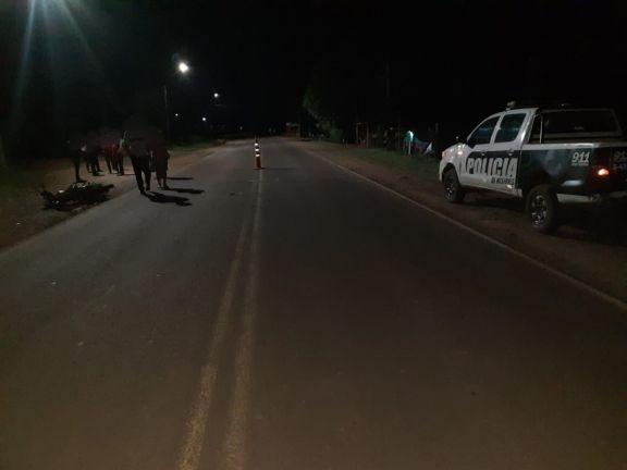 Un hombre perdió la vida tras ser embestido por una moto en la Ruta Provincial 17 en Pozo Azul