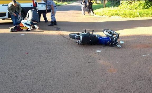 Un motociclista herido tras impacto contra una camioneta en Candelaria